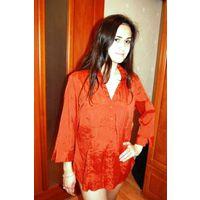 Блуза- цвет теракот красота р 48-50