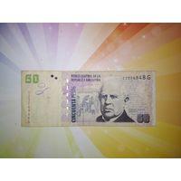 Аргентина 50 песо 2002г