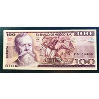 РАСПРОДАЖА С 1 РУБЛЯ!!! Мексика 100 песо 1982 год UNC