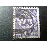 Германия 1920 служебная марка 19
