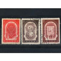 Китай КНР 1957 40 лет Октября #349,350,352