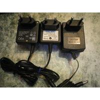 Адаптор-блок питания на 9.5В/400мА, 10В/270мА, 12В/500мА - по 8.50 р.
