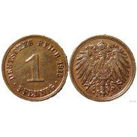 YS: Германия, Рейх, 1 пфенниг 1915A, KM# 10 (2)