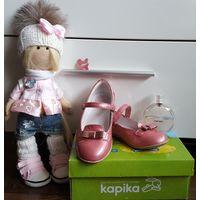 Туфли для девочки из натуральной кожи Kapika, p.28