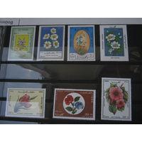 Марки - флора, цветы, 7 марок. чистые