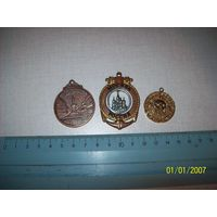 3 медали Одесса,Москва,Дисней.