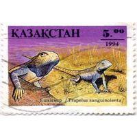 Марка Казахстана 1994 г., гаш. Серия Фауна