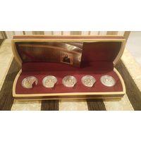 Комплект из 5 монет. Православные святые. Золото