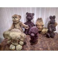 Игрушки СССР плюшевые артемон заяц белка обезьяна . ПРОДАНЫ Чебурашка и мишка