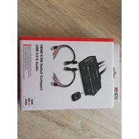 2 порта HDMI, USB 2.0 и аудио KVM-переключатель Compac