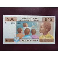 ЧАД 500 франков 2002 UNC