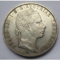 Австрия, флорин, 1858, серебро