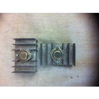 Транзистор германиевый большой мощности в сборе с радиатором охлаждения-2 шт.