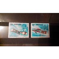 Транспорт, авиация, самолеты, воздушный флот, марки, Руанда, 1978