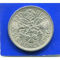 Великобритания 6 пенсов 1966