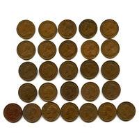 Канада набор центов 1921 - 1952 27штук СОХРАН! СОСТОЯНИЕ