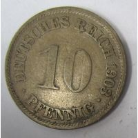 Германия. 10 пфеннигов 1903 A .  1-42