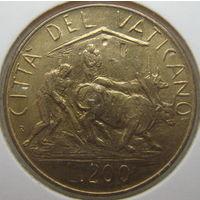 Ватикан 200 лир 1982 г. В холдере (gk)