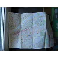 Карта Варшавы на польском