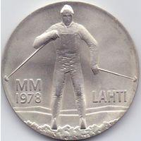 Финляндия, 25 марок 1978 года. Зимние игры в Лахти.