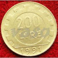 6946:  200 лир 1991 Италия