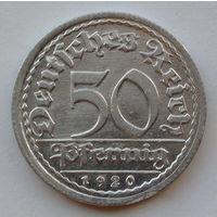 Германия - Веймарская республика 50 пфеннигов. 1920. G