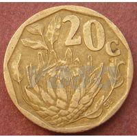 6075:  20 центов 1993 ЮАР