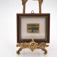 Миниатюра на золотой фольге Зимний пейзаж. Германия. Арт. 831