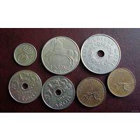 Норвегия. 7 монет 1972-2006 г.