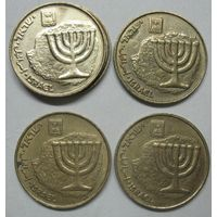 Израиль 10 агорот 1987г.1993г.1996г.1997г.1998г.1999г.2003г.2006г.2009г.2010г. 2012г.2013г.2014г.2015г.