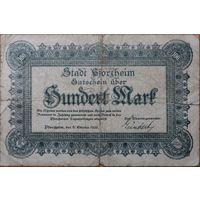 100 марок 1922г. Пфорцхайм