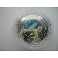 Канада 2 доллара 2017 г.150 лет конфедирации монета из рола