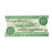 Бурунди 10 франков 2007 года UNC