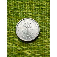 Бельгийское Конго 50 цент 1955