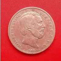 05-18 Нидерланды, 1/2 гульдена 18??г. (1850-1866)