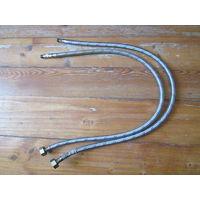 Шланг смесителя армированный длиной 80 см,2 штуки