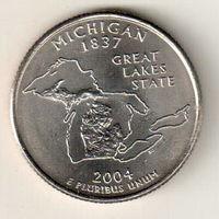 США квотер 2004 штат Мичиган