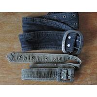 2 винтажных джинсовых ремня