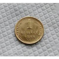 1 копейка. 1955 год .СССР #2