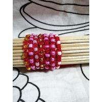 Красные браслеты обереги детские с бисером