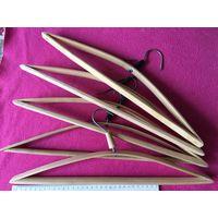 Вешалки плечики деревянные СССР 5 шт вместе длинна ок 43 см Для взрослых