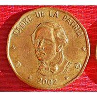 1 песо 2002 (Доминиканская Республика)