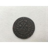 Монета 10 рейс Португалия 1727 год