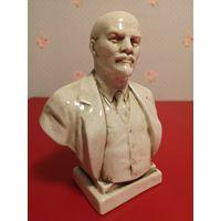 Бюст Ленина, керамика, глазурь кракле (редкость)