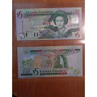 Сент-Китс и Невис 5 долларов. К