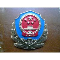 Китай КНР. Кокарда. Полиция (армия?).