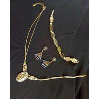 Винтаж, набор украшений от Моне, Monet 60e года, браслет, ожерелье  и серьги