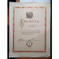 Грамота, врученная солистке балета Большого театра оперы и балета Белорусской ССР. 1954 г.