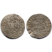 Полугрош 1547, Жигимонт Август, Вильно.Окончание легенд: Ав - LI, Рв - LITVA