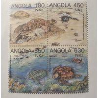Ангола\70\ 1993 Mi # 932-935 Морские черепахи